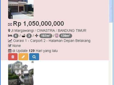 WEB Application for Property