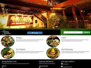 WEB Application for Restaurant