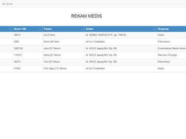 Web Applicatioin for Rekam Medis