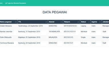 Web Application for Employee