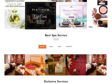 e-Commerce spa business website design