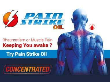 Pain Strike Oil - Infographic Flyer