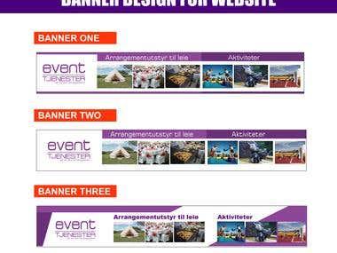 Banner Design for website