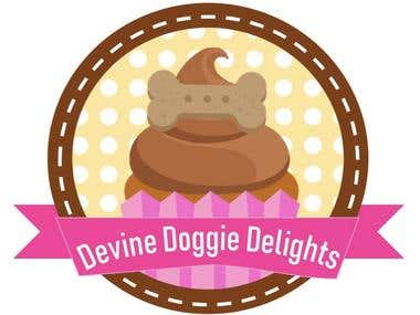 Devine Doggie Delights Logo