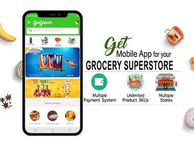 GoGrocer - Grocery Delivery App | 300+ Clients