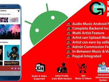 GoMedia - Artist Music & Video Android App | 50+ Clients