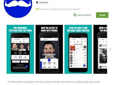 Movember Mobile Apps