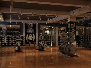 3D Designing and Rendering of Gym
