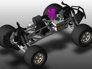 RC car design in Solidworks
