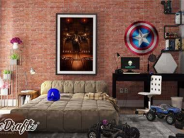 Small bedroom - Captain america theme