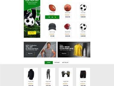 Sports web page design