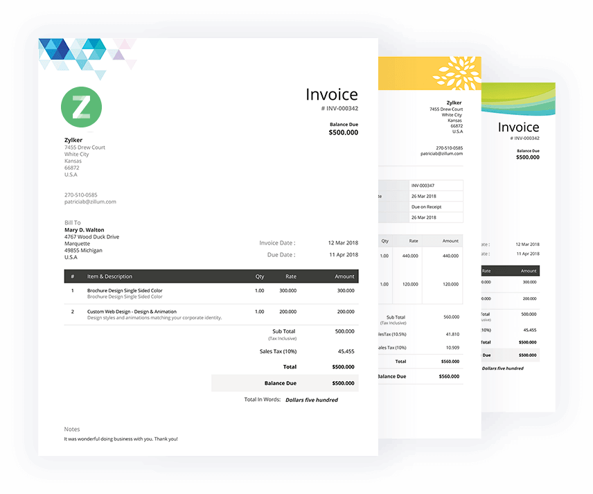 Invoice in WORD and PDF1