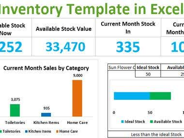 Inventory System in Excel