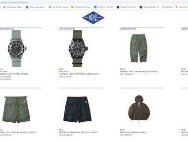 e-commerce(Full-stack development)