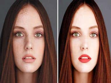 photo retouching,white or transparate background removal