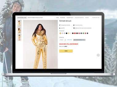 Grystore - online store selling women's winter ski suit