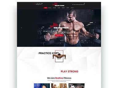 Redline Fitness Website