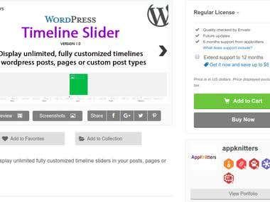 WordPress Timeline Slider