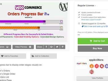 WooCommerce Order's Progress bar – Pro