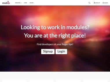 Modup - Modules Based Outsourcing Platform