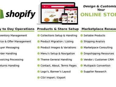 Shopify Oferta Actividades