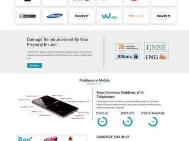Mobile Repair web page