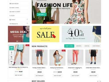 Wordpress woo-commerce website Designing and Development