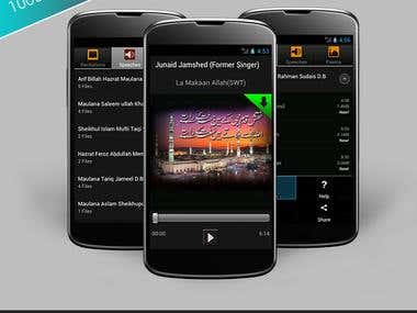 Audio Streaming Application for Android Devices