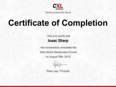 Data Studio Masterclass certification