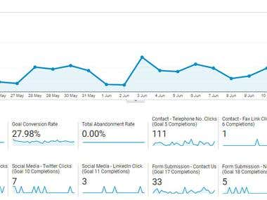 Google Analytics - Goal Completions Example