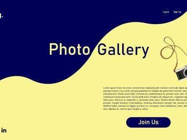 Photo Gallery Web Design