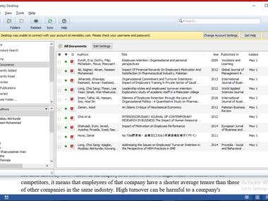 Research Article using Mendeley