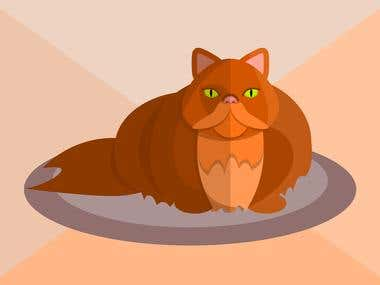Persian cat vector illustration