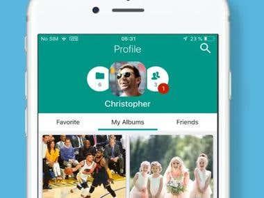 Photo & Vedio Sharing App