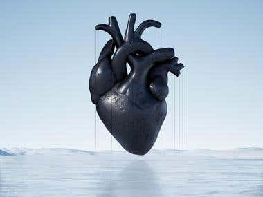 "Artwork ""Black Hearted"""