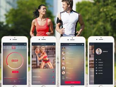 Fitness Android app development