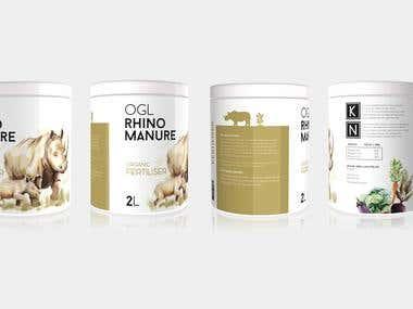 Label Design for Manure Packaging