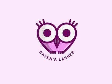 Raven's Lashes Logo