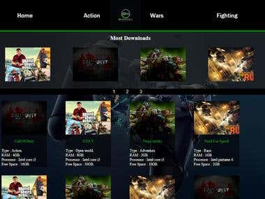 Web site for downloading games