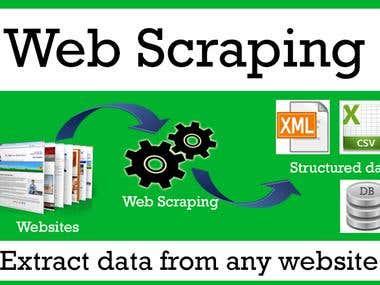 Scrape any website