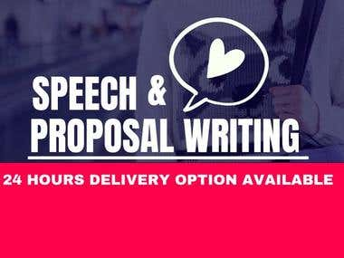 SPEECH & PROPOSAL