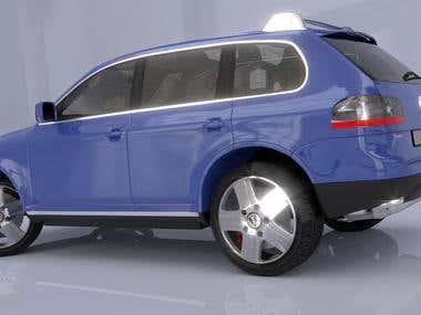 VW Tuareg SUV 3D Model