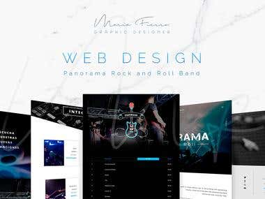 Website Design for the band Panorama Rock and Roll