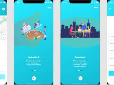 App design Illustrator , Photoshop , Adobe XD, Prototype D