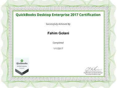 Quickbooks Certificate