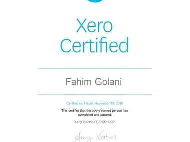 Xero Certificate