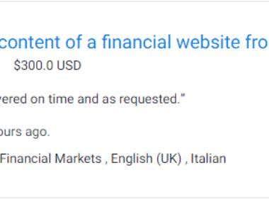 FINANCIAL WEBSITE EN/IT