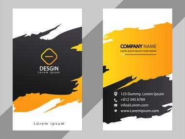 Abstract creative business card design length