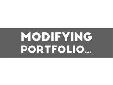 Modifying New Portfolio