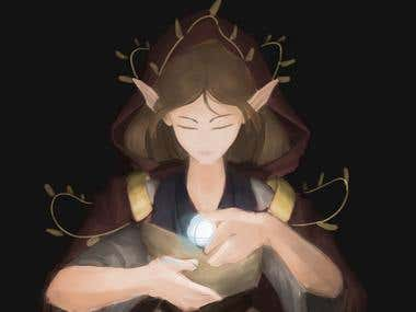 Digital Painting - Priestess